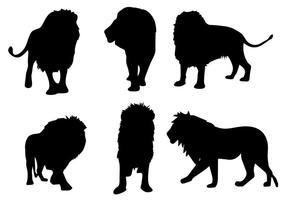 Vecteur de silhouette de lion gratuit