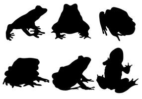 Vecteur libre de silhouette de grenouille
