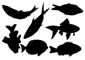 Vecteur de silhouette de poissons gratuit