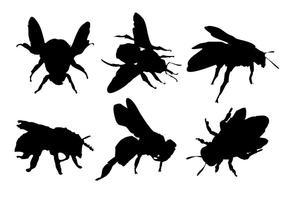 Vecteur libre de silhouette d'abeille