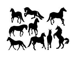 Vecteur de silhouette de chevaux gratuit