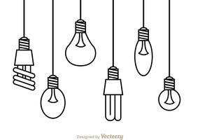 Lumière suspendue vecteur