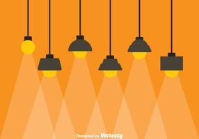 Lampe suspendue vecteur