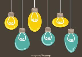 Ampoules suspendues vecteur