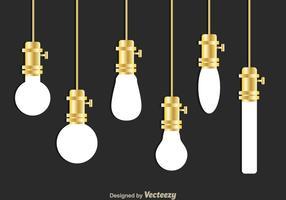Ampoule blanche suspendue vecteur