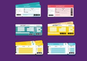 Vecteurs de billets d'avion