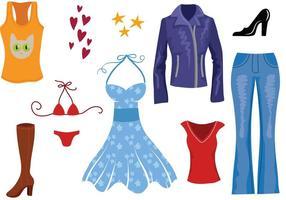 Vecteurs de vêtements pour femmes gratuits vecteur