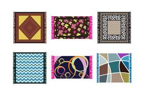 Vecteurs de tapis de surface modernes