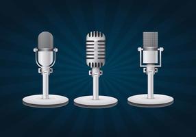 Microphone vintage vecteur