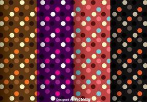 Modèle de point de polka sombre vecteur