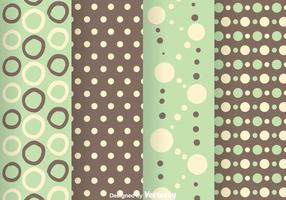 Forme de point de polka vert et gris vecteur