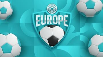 conception d'affiche de football football europe vecteur