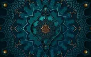 Conception de mandala d'art islamique 3d vecteur