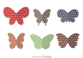 Ailes de papillons vecteur