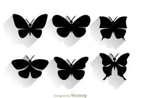 Silhouette papillon vecteur