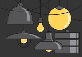 Lampe suspendue de vecteur