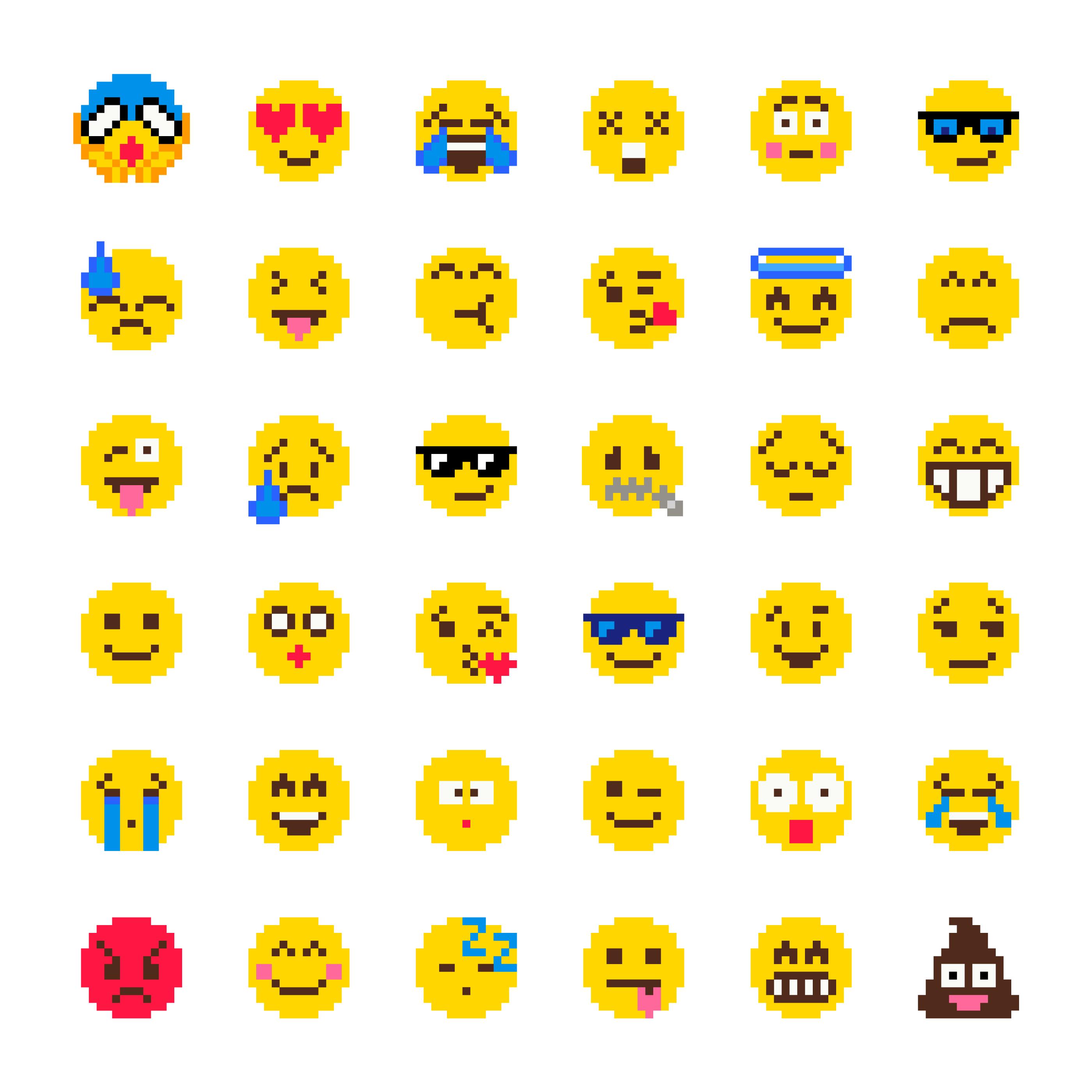 Ensemble De Vecteur Pixel Emoji Telecharger Vectoriel Gratuit Clipart Graphique Vecteur Dessins Et Pictogramme Gratuit
