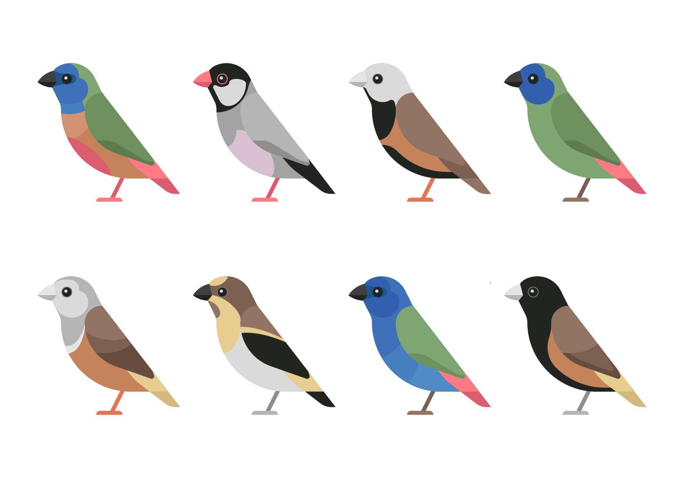 Oiseau Clipart Set Telecharger Vectoriel Gratuit Clipart Graphique Vecteur Dessins Et Pictogramme Gratuit