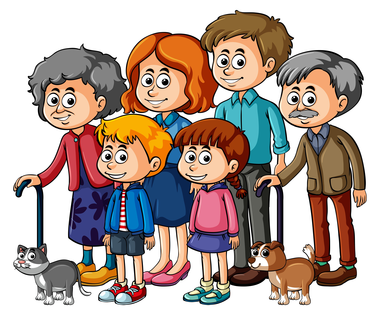 Membres De La Famille Avec Parents Et Enfants Telecharger Vectoriel Gratuit Clipart Graphique Vecteur Dessins Et Pictogramme Gratuit