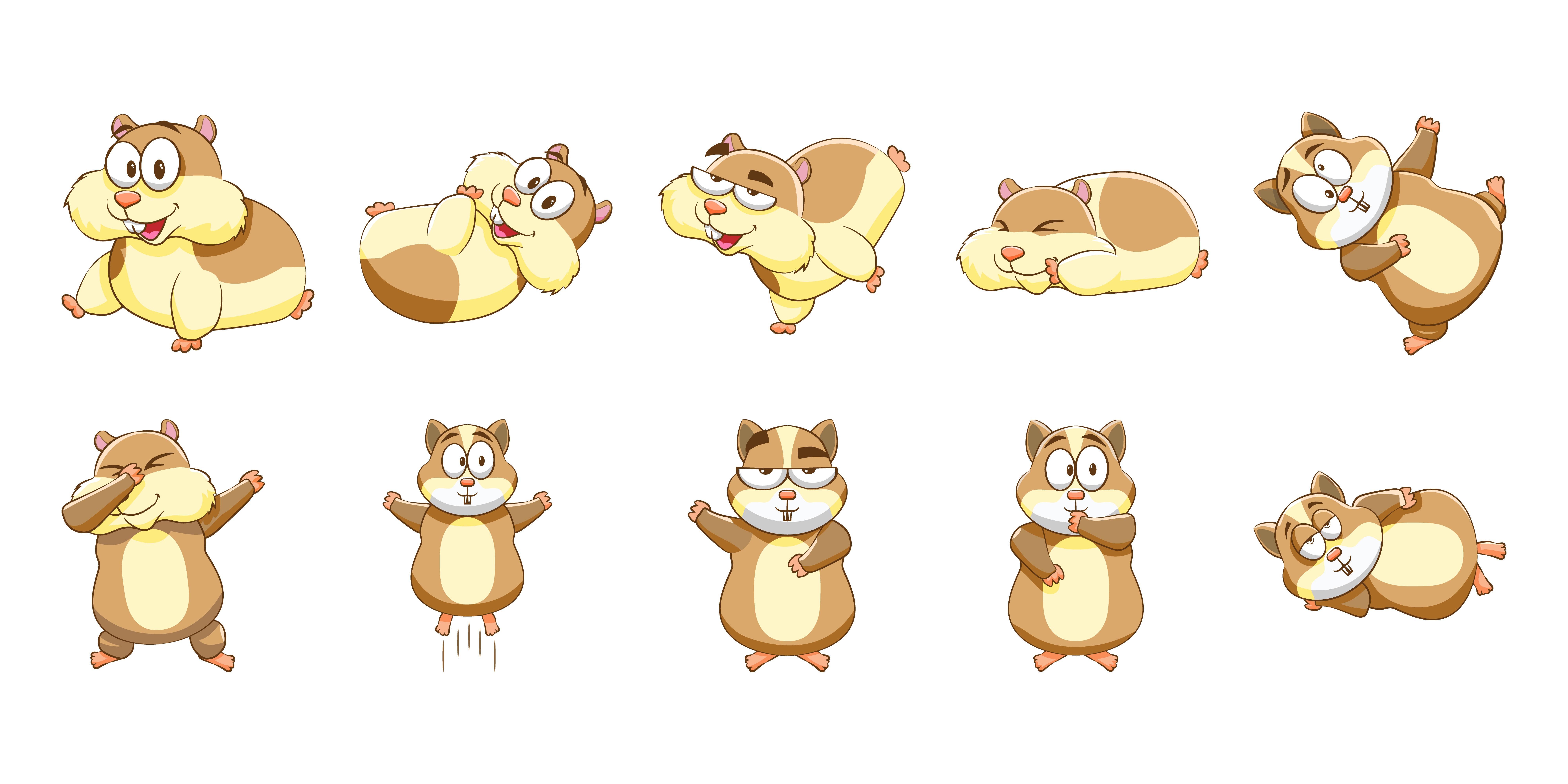 Ensemble De Hamster De Dessin Anime Telecharger Vectoriel Gratuit Clipart Graphique Vecteur Dessins Et Pictogramme Gratuit