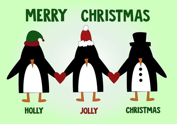 Vetor de natal pingüim grátis