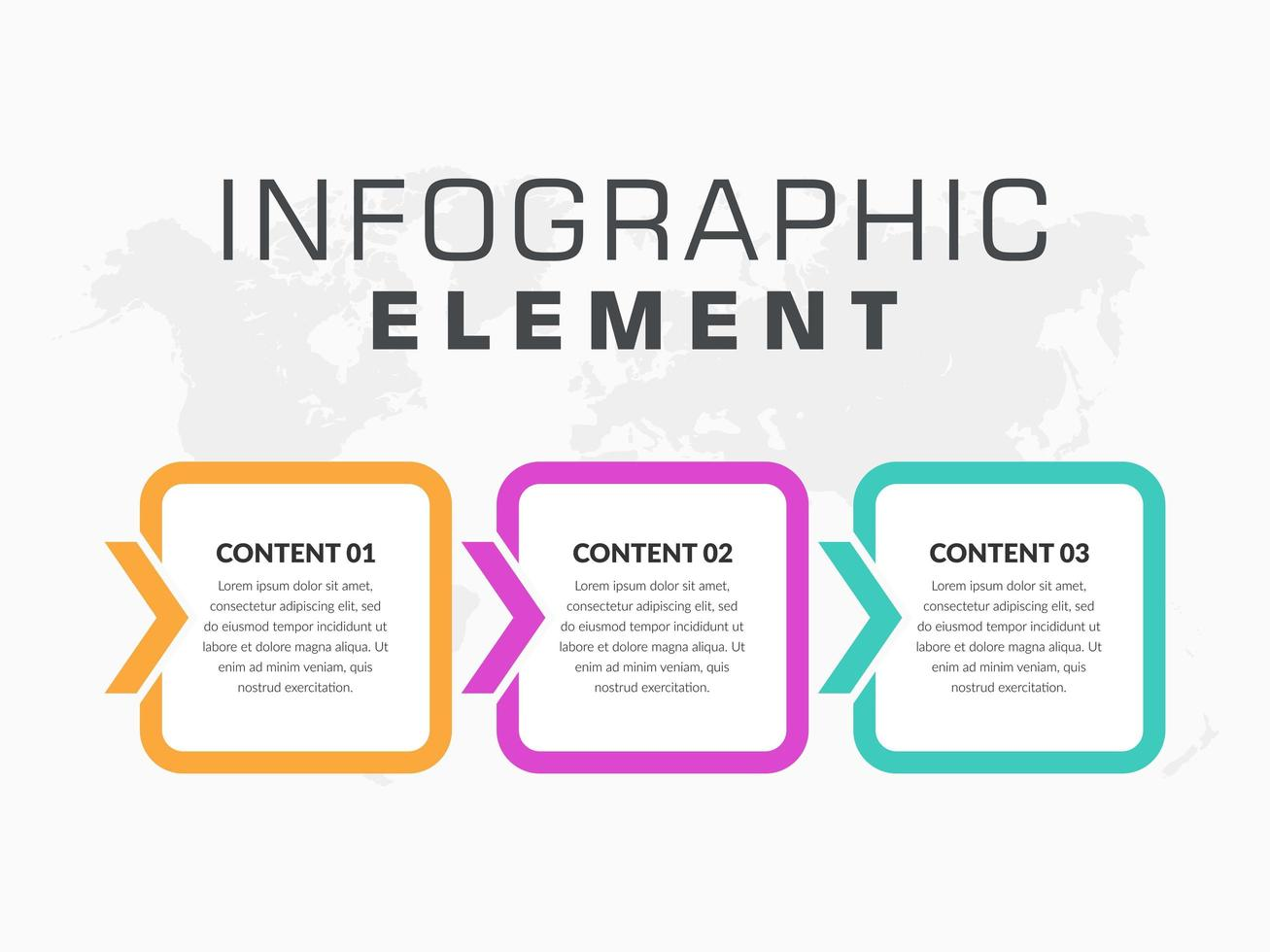 modelo de elemento de negócio de infográfico com estilo de seta vetor