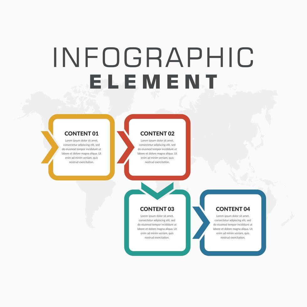 modelo de infográfico de estilo de seta para estratégia de negócios vetor