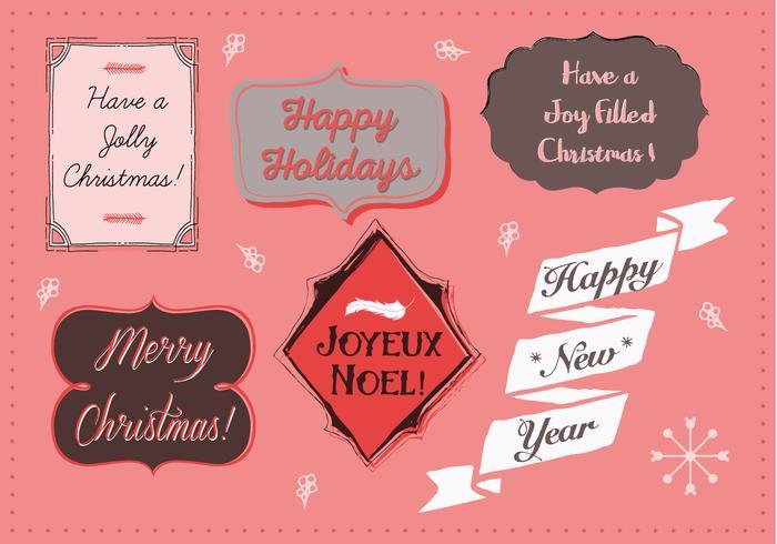 Ilustração de fundo de Natal grátis com tipografia vetor