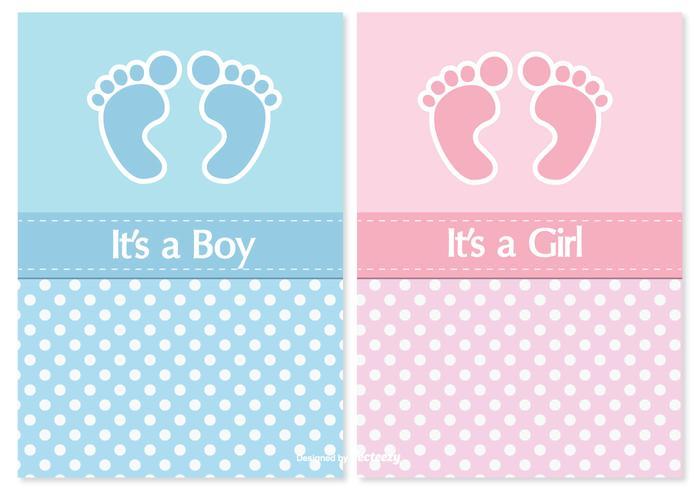 Conjunto de cartão de bebê bonito vetor