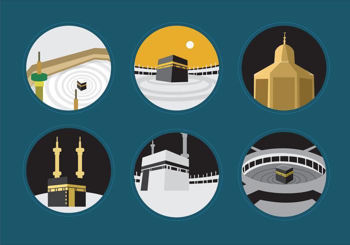 Kaabah em Makkah vetor