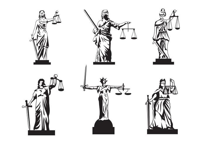 Vector de justiça senhora livre