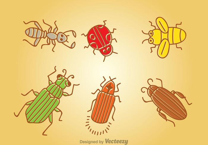 Vetor inseto de desenhos animados