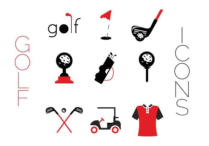 Ícones criativos de golfe vetor