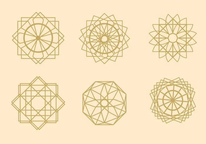 Vetores de Arabesque Geométricos