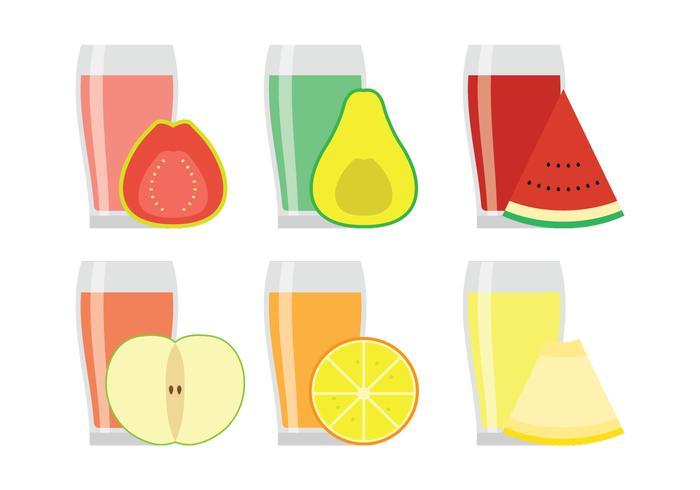 Sucos de frutas vetoriais vetor