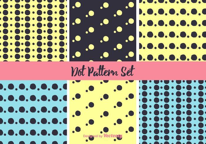 Conjunto de vetores de padrão de néon Dot