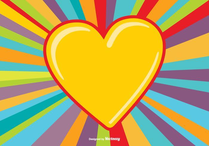 Fundo de explosão de coração colorido vetor