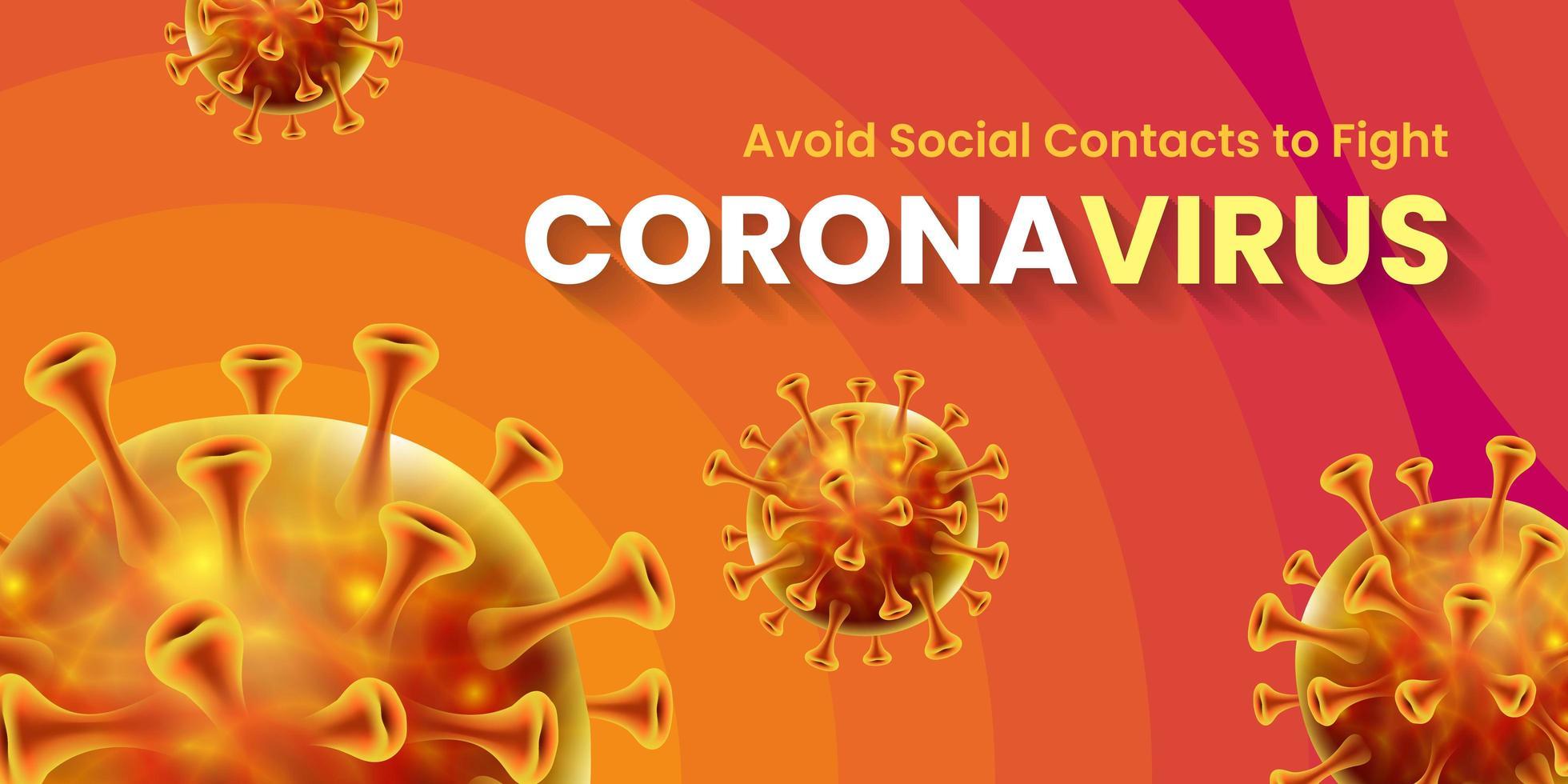 design de banner global de pandemia do vírus da coroa covid-19 vetor