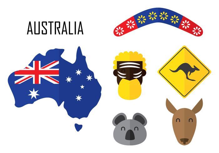 Ícone da Austrália vetor