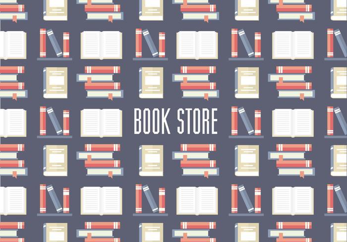 Vetor livre de padrões de loja de livros