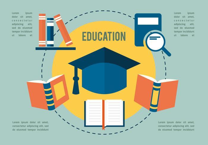 Coleção gratuita de vetores de educação plana