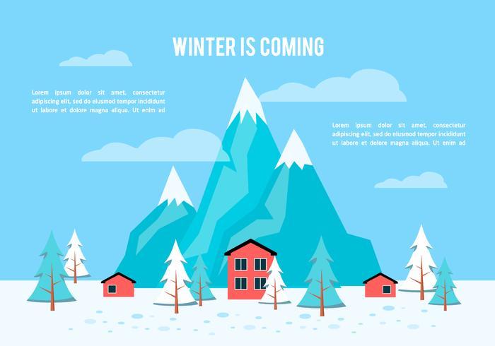 Fundo plano grátis do inverno do inverno vetor