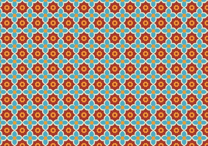 Vector de padrões de mosaico floral