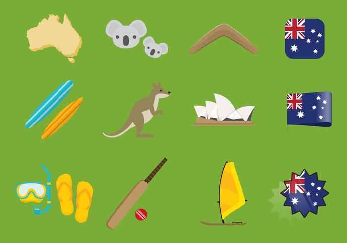 Ícones da Austrália vetor