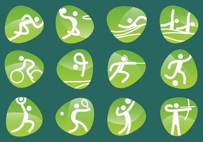 Pictogramas olímpicos vetoriais vetor