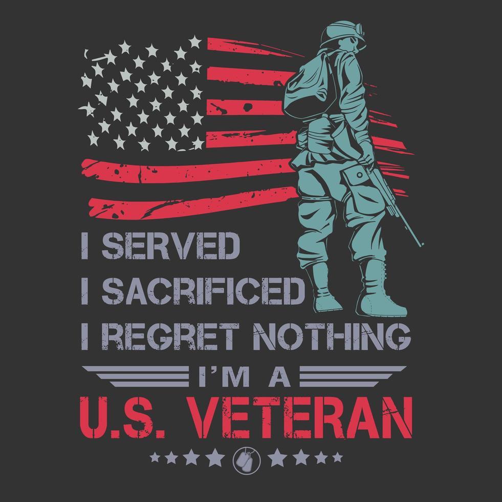 design de cartaz veterano nos vetor