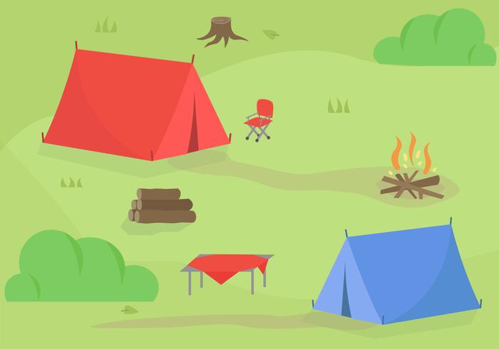 Vector de acampamento gratuito