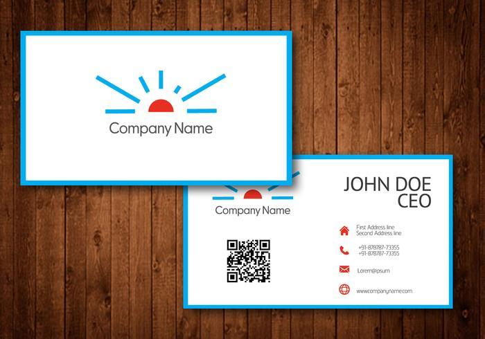 Logotipo de Sun Business Card Template Vector