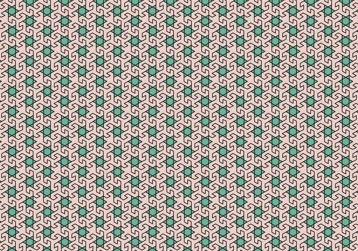 Padrão de mosaico em mosaico vetor