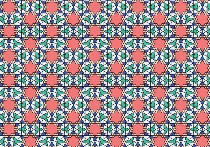 Geometria Padrão Marroquino Bakcground vetor